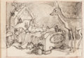 Animation Art:Concept Art, Snow White and the Seven Dwarfs Concept Art (Walt Disney,1937)....