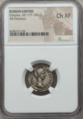 Ancients:Roman Imperial, Ancients: Crispina, wife of Commodus (Augusta, AD 177-182/3 or 188). AR denarius. NGC Choice XF....