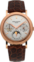 Timepieces:Wristwatch, Patek Philippe Ref. 5039R-001 Very Fine Rose Gold PerpetualCalendar With Moon Phases & AM/PM Indication. ...