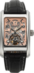 "Timepieces:Wristwatch, Audemars Piguet Very Fine Platinum ""Edward Piguet"" Skeleton Tourbillon Model 25947PT. ..."