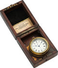 Timepieces:Other , Wright & Craighead London Karrusel Silver Broad Arrow Deck Clock. ...