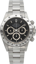 Timepieces:Wristwatch, Rolex Daytona Stainless Steel Wristwatch Ref. 16520, Circa 1995. ...