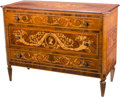 Furniture : Continental, A Fine Italian Neoclassical Rosewood, Mahogany, and FruitwoodMarquetry Inlaid Commode in the manner of Giuseppe Maggiolini,...
