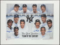 Autographs:Photos, New York Yankees Team of the Century Signed Oversized Lithograph....
