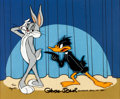 "Animation Art:Limited Edition Cel, ""Night of Nights"" Bugs Bunny and Daffy Duck Limited Edition Cel#2/100 (Warner Brothers, 1982)...."