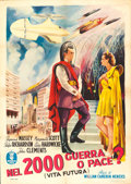 "Movie Posters:Science Fiction, Things to Come (Minerva, R-1953). Italian 2 - Fogli (39"" X55.25"").. ..."