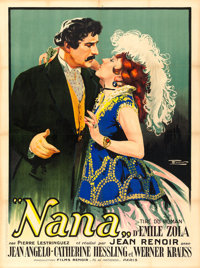"Nana (Les Etablissements Braunberger- Richebe, 1925). French Grande (47.25"" X 63"") E. Florit Artwork"