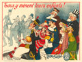 "Movie Posters:Miscellaneous, Cinèma Pathé Advertisement (Pathé, c. 1909). Horizontal FrenchGrande (46.25"" X 61.5"") Adrien Barrère Artwork.. ..."