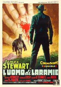 "The Man from Laramie (Columbia, 1955). Italian 4 - Fogli (54"" X 77.5"") Anselmo Ballester Artwork"