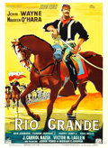 "Movie Posters:Western, Rio Grande (Republic, 1950). French Grande (46"" X 63"") Clement Hurel Artwork.. ..."