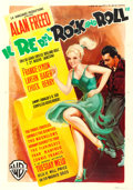 "Movie Posters:Rock and Roll, Rock, Rock, Rock (Warner Brothers, 1956). Italian 4 - Fogli (53.75""X 76.5"") Luigi Martinati Artwork.. ..."