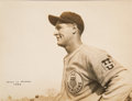 Baseball Collectibles:Photos, 1934 Lou Gehrig Tour of Japan Oversized Original Photograph,PSA/DNA Type 1....