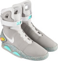 Other:Contemporary, Nike. Air Mag (Back to the Future), Jetstream/White-PaleBlue, 2011. Size 11, Original Box, hand signed, Deadstock. Box ...(Total: 2 Items)