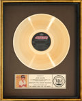 Music Memorabilia:Awards, Donna Summer She Works Hard for the Money RIAA Gold RecordSales Award (Mercury 422-812-265-1 M-1, 1983)....