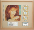 Music Memorabilia:Awards, Reba McEntire Greatest Hits Volume Two RIAA Multi-Platinum Sales Award (MCA MCAD-10906, 1993)....
