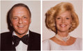 Movie/TV Memorabilia:Photos, A Frank and Barbara Sinatra Set of Extra Color PassportPhotographs, Circa 1980....