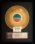 Music Memorabilia:Awards, INXS Listen Like Thieves RIAA Hologram Gold Record SalesAward (Atlantic 81277-1, 1985)....