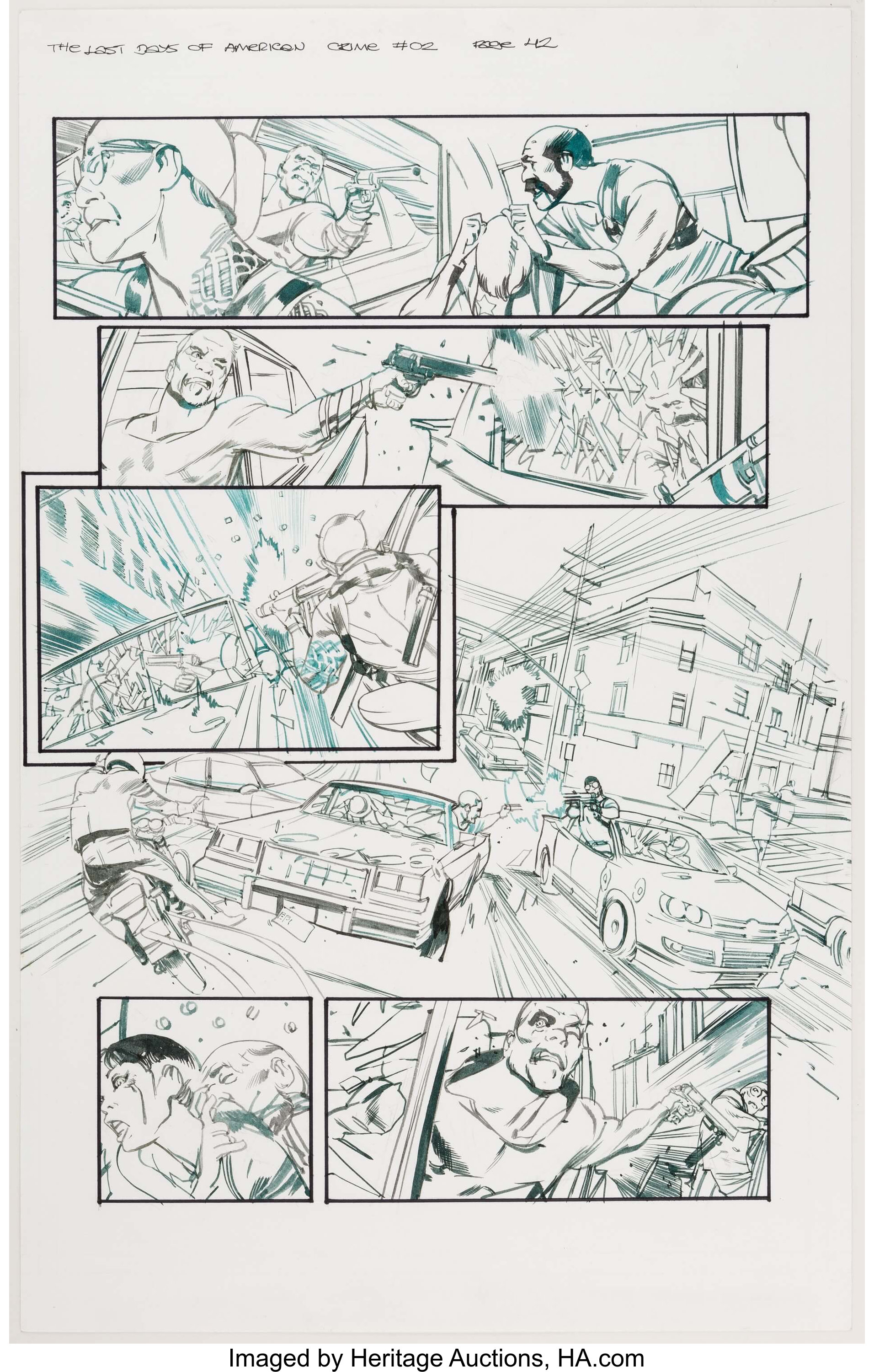 Greg Tocchini The Last Days Of American Crime 2 Page 42 Original Lot 15210 Heritage Auctions