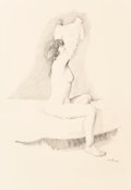 Fine Art - Work on Paper:Drawing, Ancel E. Nunn (American, 1928-1999). Nude, 1986. Pencil onpaper. 26 x 18 inches (66.0 x 45.7 cm) (sight). Signed and da...