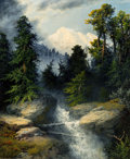 Fine Art - Painting, American, A.D. Greer (American, 1904-1998). Mountain Stream, 1986. Oilon canvas. 24 x 20 inches (61.0 x 50.8 cm). Signed and date...