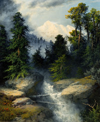 A.D. Greer (American, 1904-1998) Mountain Stream, 1986 Oil on canvas 24 x 20 inches (61.0 x 50.8