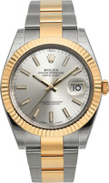 Timepieces:Wristwatch, Rolex Unworn Datejust 41 Two Tone Wristwatch Ref. 126333. ...