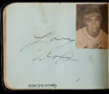 Baseball Collectibles:Others, Trio of 1950's Baseball Autograph Albums (3) - Almost Exclusively Cleveland Indians. ...