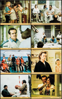 "One Flew Over the Cuckoo's Nest (United Artists, 1975). Mini Lobby Card Set of 8 (8"" X 10""). Academy Award Win..."