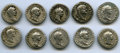 Ancients:Roman Imperial, Ancients: Lot of ten AR denarii of Domitian (AD 81-96). About Fine.... (Total: 10 coins)