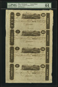 "Obsoletes By State:Ohio, Cincinnati, (OH)- (John H. Piatt & Company) $5-$3-$2-$1 18__Uncut Sheet ""James Monroe"" Post Notes.. ..."