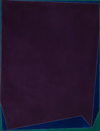 Seymour Boardman (American, 1921-2005) Deep Violet, 1970 Acrylic on canvas 49-1/2 x 39 inches (12