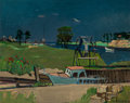 Fine Art - Painting, American:Contemporary   (1950 to present)  , Nicolai Cikovsky (American, 1894-1987). Shinnecock Canal, LongIsland. Oil on canvas laid on Masonite. 24-1/4 x 30 inche...