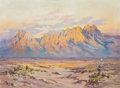Fine Art - Painting, American:Contemporary   (1950 to present)  , Marjorie Tietjens (American, 1895-1987). Las Cruces, NewMexico. Oil on Masonite. 18 x 24 inches (45.7 x 61.0 cm).Signe...
