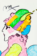 Fine Art - Work on Paper:Drawing, Peter Max (American, b. 1937). Lady in Profile. Marker onpaper. 18-1/4 x 12-1/4 inches (46.4 x 31.1 cm) (sight). Signed...