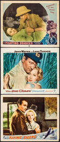"Movie Posters:War, Flying Tigers & Others Lot (Republic, 1942). Lobby Cards (3)(11"" X 14""). War.. ... (Total: 3 Items)"