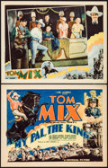 "Movie Posters:Western, My Pal, the King (Universal, 1932). Title Lobby Card & Lobby Card (11"" X 14""). Western.. ... (Total: 2 Items)"