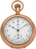 Timepieces:Pocket (pre 1900) , Waltham Sharp 14 Size Chronograph, circa 1885. ...