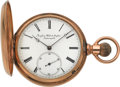 Timepieces:Pocket (pre 1900) , Swiss Heavy 14k Gold 16 Size Hunters Case, circa 1892. ...
