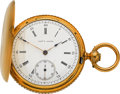Timepieces:Pocket (pre 1900) , Chas. Jacot 18k Gold Improved Patented Lever. ...