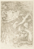 Fine Art - Work on Paper:Print, After Pierre-Auguste Renoir (French, 1841-1919). Le chapeau épinglé, 1984. Ething, second state. 4-5/8 x 3-1/4 inches (1...