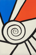 Prints & Multiples, Alexander Calder (American, 1898-1976). Spiral Rouge et Bleu, 1969. Lithograph in colors. 42-3/4 x 29 inches (108.6 x 73...