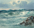 Fine Art - Painting, American:Modern  (1900 1949)  , Alexander Dzigurski (Russian/American, 1911-1995). Clouds andWaves. Oil on canvas. 20 x 24 inches (50.8 x 61.0 cm). Sig...