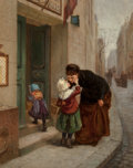 Fine Art - Painting, European:Antique  (Pre 1900), Charles Théodore Frère (French, 1814-1888). Au Revoir, 1879.Oil on panel. 18-1/4 x 14-3/4 inches (46.5 x 37.6 cm). Sign...