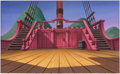 Animation Art:Painted cel background, Return to Never Land Jolly Roger Painted ProductionBackground (Walt Disney, 2002). ...