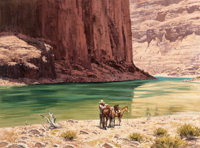 Howard Schafer (American, 20th Century) In the Canyon Oil on canvas 30 x 40 inches (76.2 x 101.6