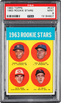 Baseball Cards:Singles (1960-1969), 1963 Topps Pete Rose - 1963 Rookie Stars #537 PSA Mint 9....