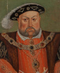 Fine Art - Painting, European:Antique  (Pre 1900), After Hans Holbein (German, 1497-1543). Portrait of HenryVIII. Oil on panel. 11 x 9 inches (27.9 x 22.9 cm). ...