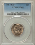 Jefferson Nickels, 1954-S/D 5C MS65 PCGS. PCGS Population: (184/6). NGC Census: (49/33). CDN: $140 Whsle. Bid for problem-free NGC/PCGS MS65. ...