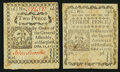 Colonial Notes:Connecticut, Connecticut October 11, 1777 2d Fine;. Connecticut October 11, 1777 3d VF.. ... (Total: 2 notes)