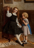 Fine Art - Painting, European, William Oliver the Younger (British, 1823-1901). Blowing Bubbles, 1869. Oil on canvas. 34-1/2 x 25 inches (87.6 x 63.5 c...